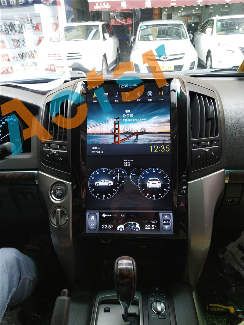 """Flash Deal 16"""" Tesla style Android 7.1 Car GPS Navigation Multimedia Player for TOYOTA LAND CRUISER LC200 2008-2015 Radio autostereo no dvd 3"""