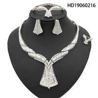 Yulaili African Jewelry Sets For Women Silver Plated Anniversary Gift Bridesmaid Jewelry Sets For 2019 Fashion Jewelry