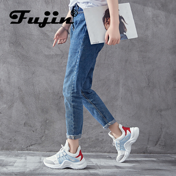 Fujin Brand 2018 Breathable Mesh Women Casual Shoes Vulcanize Female Fashion Sneakers Lace Up Soft High Leisure Footwears
