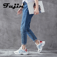 Fujin Brand 2018 Breathable Mesh Women Casual Shoes Vulcanize Female Fashion Sneakers Lace Up Soft High