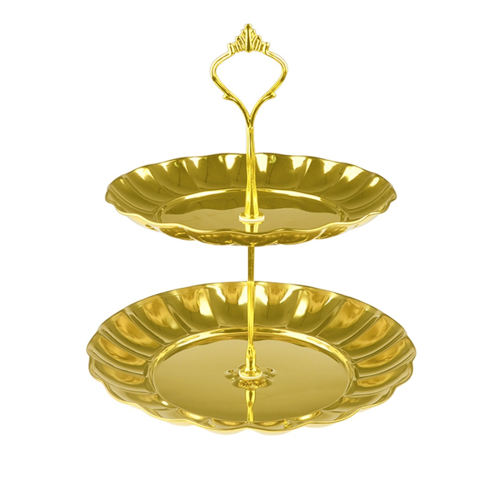 HIPSTEEN Stainless Steel 2 Tiered Fruits&Desserts Cake Stand ...