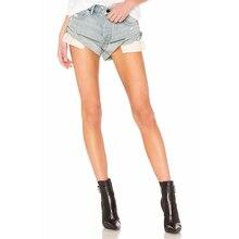 Summer New Retro Washed Hole Fashion Cuffed High Waist Thin Denim Shorts Women Special Short Jeans