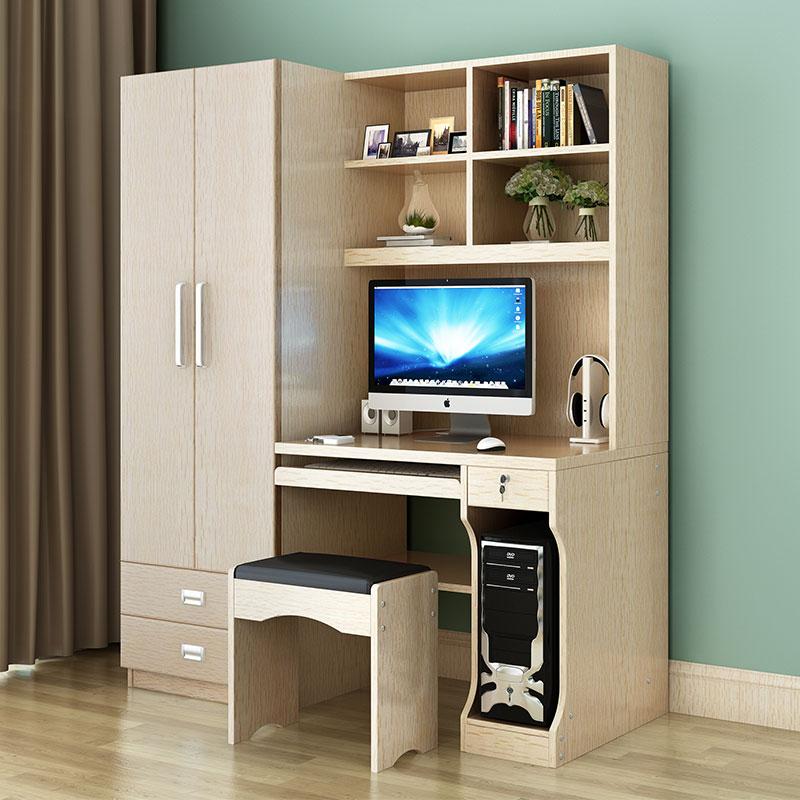Table Desktop Home Computer Desk Combination Bookcase Wardrobe Double Door One Study In Desks From Furniture On Aliexpress Alibaba Group