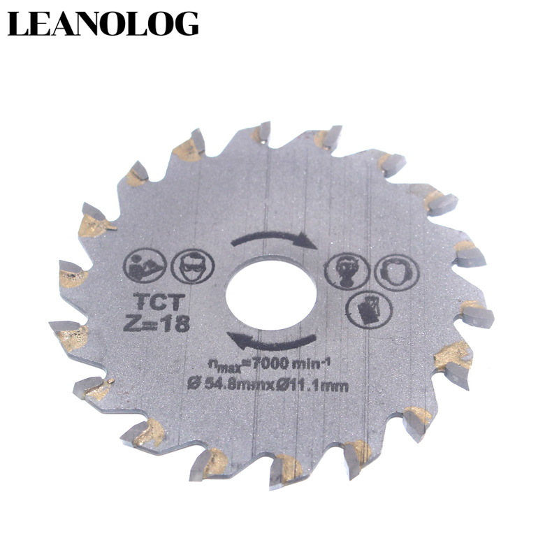 For Wood Metal Granite Marble Tile Brick Disc For Protable Cutting Tools Electrical Chain TCT Alloy Steel 18Tooth Circular Saw