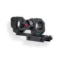 Discovery High Accuracy 24.5/30/34mm Universal One piece Offset Scope Mount Dual Ring with Angel for Picatinny 20mm&dovetail 11m