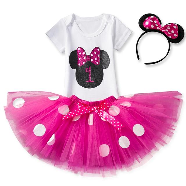 57e5fae3b6e9 Newborn Baby Girl 1st Birthday Tutu Skirt Romper Headband Set ...