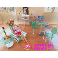 New Arrival Miniature Furniture Fashion Study Room For Barbie Doll House Classic Toys For Girl Free