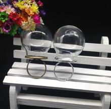 3 takım/grup 30*20mm El Yapımı cam küre halkası klasik taban bulma seti cam küresel yüzük cam flakon cam kapak diy yüzük takı