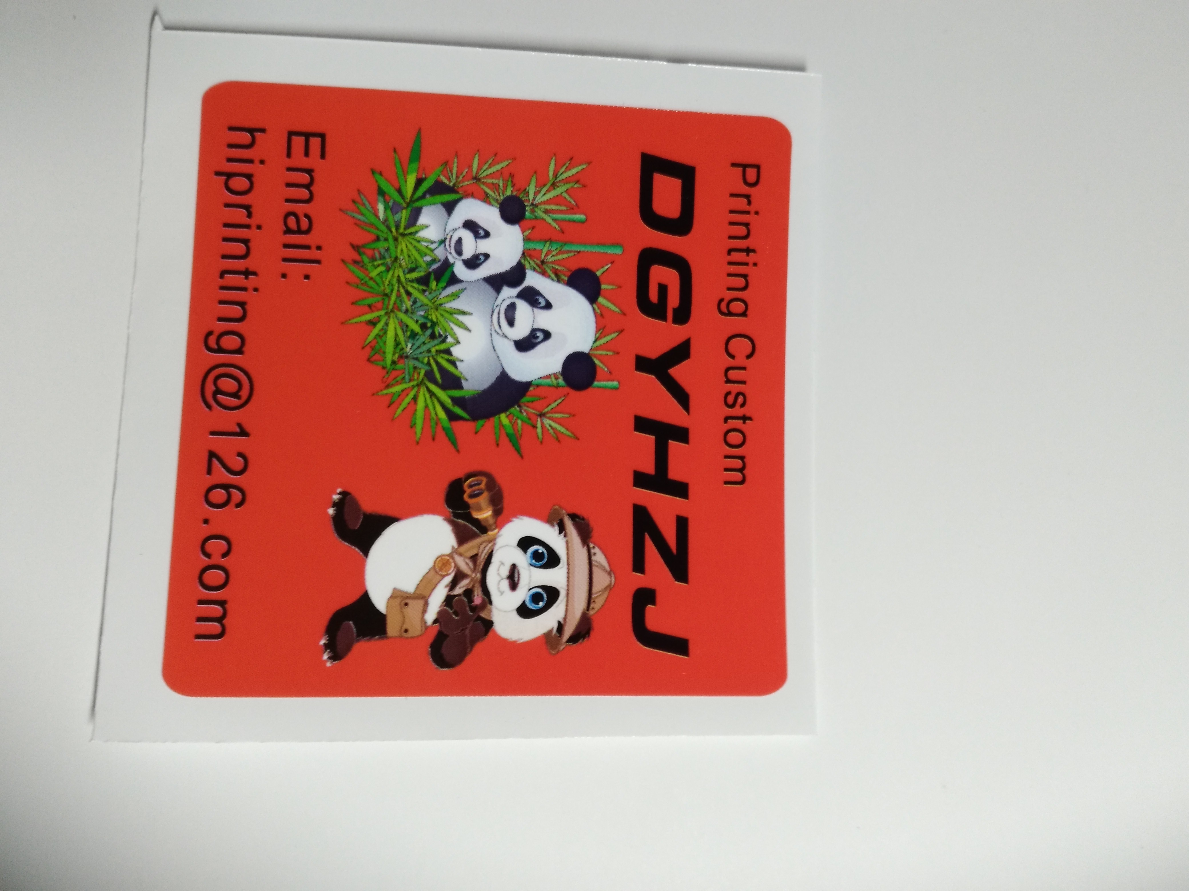 sticker dimension is 7 25 inches width 2 75 height sticker printing 2 designs each 200pcs
