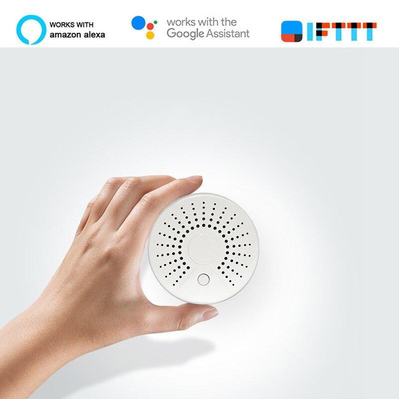 Smart Wifi capteur de température de fumée sans fil détecteur de température de fumée automatisation système d'alarme de sécurité domestique vie intelligente