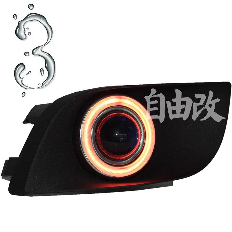 New Innovative CCFL Angel Eye daytime running light + halogen Fog Light Projector Len and fog lamp case for Suzuki Riana 2005-09