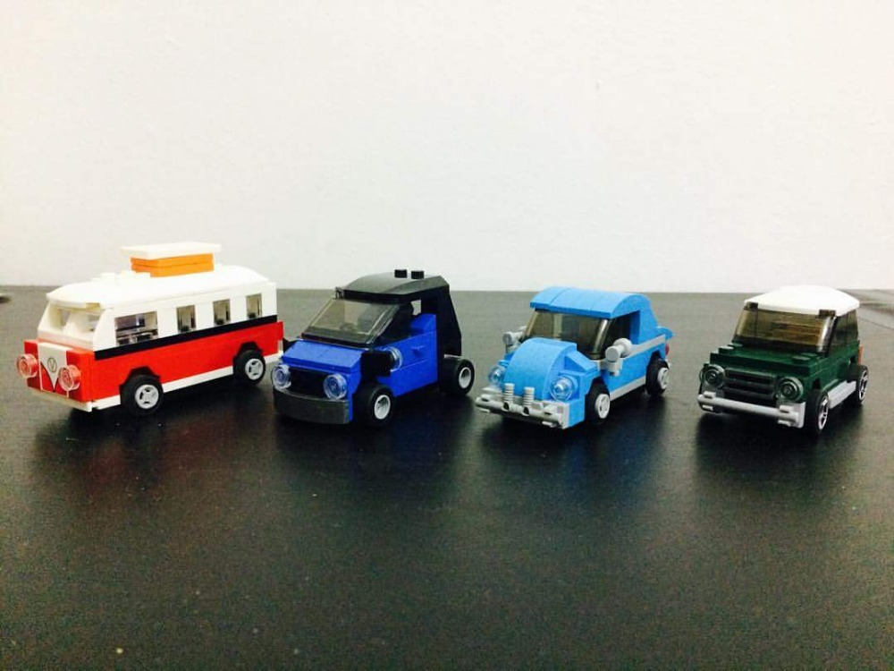 4Pcs/Set City Creator VW Beetle Mini Car Model Building Block Toys DECOOL Figure Brinquedos Gift For Children Compatible Legoe loz mini diamond block world famous architecture financial center swfc shangha china city nanoblock model brick educational toys