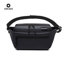 OZUKO Waterproof Waist Bag Men Fanny Pack Shoulder Belt Bag Male Phone Pouch Bags Travel Waist Pack Small Running Sport Bolso цена и фото