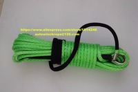Free Shipping Green 10mm*30m Synthetic Winch Rope,Winch Rope Extension,Replacement Winch Cable,3/8 Winch Rope