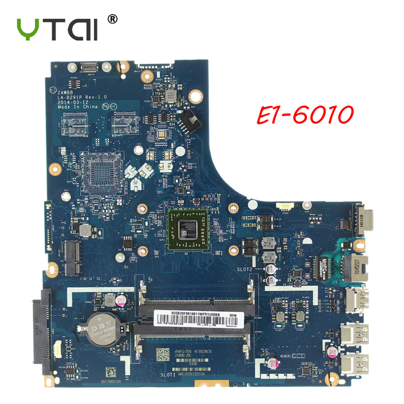 New motherboard For Lenovo B50 45 Laptop motherboard AMD E1 6010 CPU ZAWBA BB LA B291P