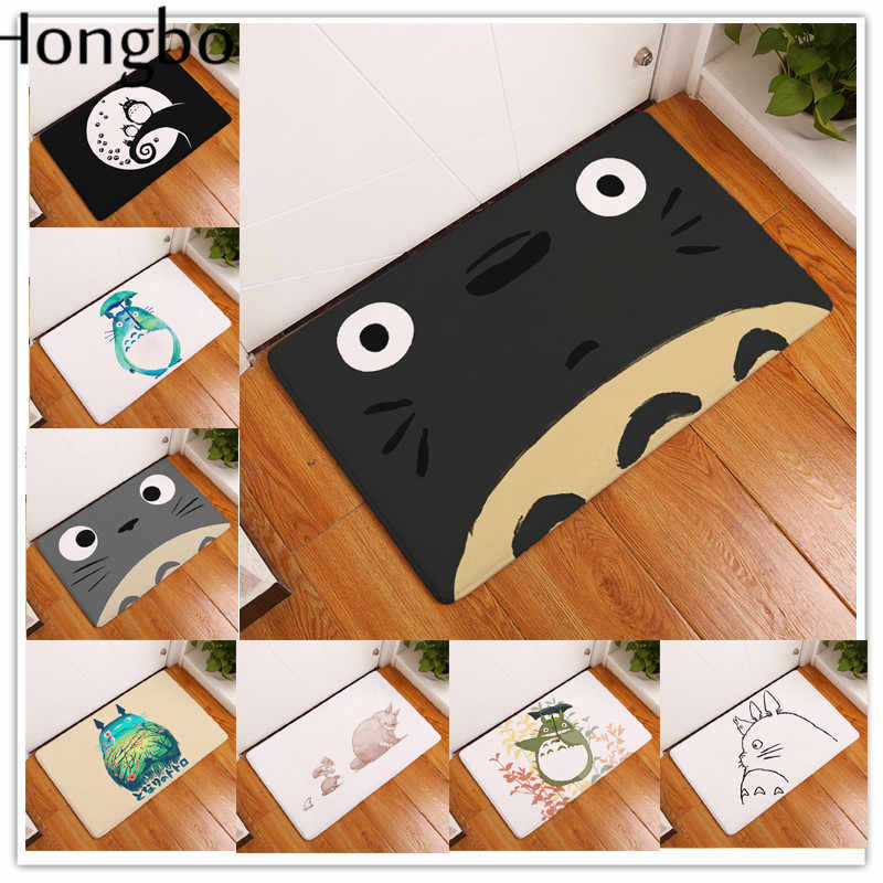 Hongbo Totoro tapis 40*60 cm Chinchillas chat Animal mode rectangulaire tapis d'entrée paillassons lavable cuisine sol salle de bain