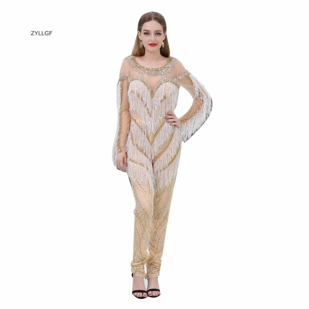 ZYLLGF Dubai robes de soirée manches longues trompette robe de soirée cristaux perlée robes de soirée ventes livraison gratuite SL63