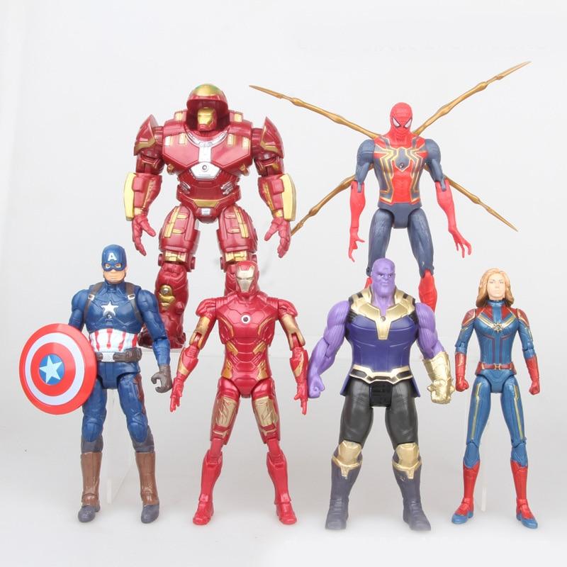 Captain American Spiderman Surprise Marvel-Avengers Action-Figures Anime Super-Hero 6pcs/Set