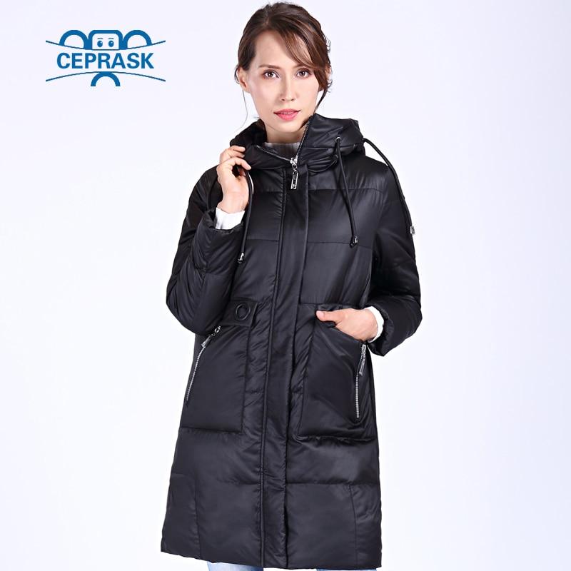 CEPRASK 2019 New High Quality Winter Jacket Women Plus Size 6XL  Long Bio fluff Womens Parka Winter Coat Hooded Warm Down JacketParkas
