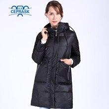 CEPRASK 2020 חדש באיכות גבוהה חורף מעיל נשים בתוספת גודל 6XL ארוך ביו קצפת נשים של מעיל חורף מעיל ברדס חם למטה מעיל
