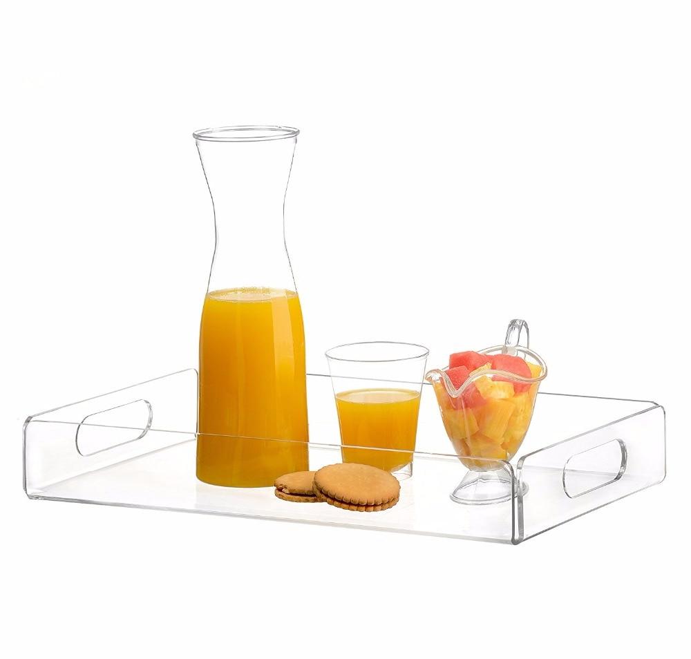 Premium Acrylic Tray Tea Tray and Coffee Table Tray Breakfast Tray Clear Acrylic Serving Tray