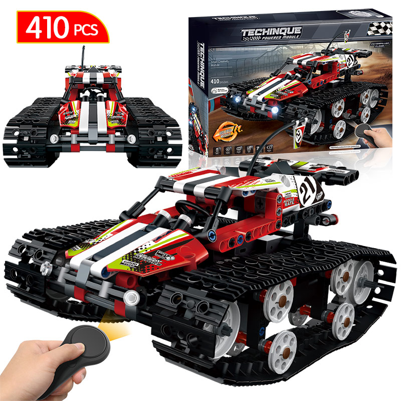 Remote Control Motor Tracked Racer Car Bricks Compatible LegoINGLY Technic RC Power Function Building Blocks Toys