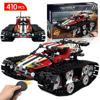 Remote Control Motor Tracked Racer Car Bricks Compatible LegoINGLY Technic RC Power Function Building Blocks Toys For Children