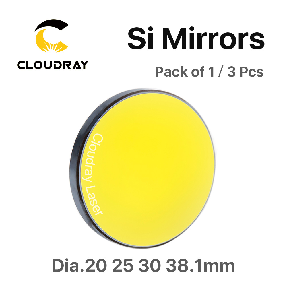 Cloudray High Quality Si Reflective Mirror D19.05 20 25 30 38.1mm Coated Gold for CO2 Laser Engraving Cutting Machine gold quality ce standard 900 600mm felt cutting machine