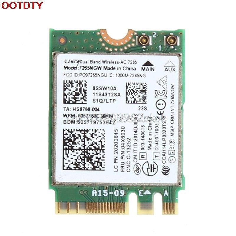 Galleria fotografica Pour Lenovo X250 T450 W550 pour <font><b>Intel</b></font> 7265 pour AC 867 Mbps Wifi + Bluetooth 4.0 NGFF Carte # H029 #