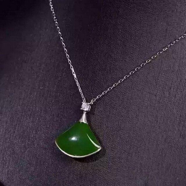 Natural jasper pendants 925 sterling silver natural green gem natural jasper pendants 925 sterling silver natural green gem pendants plain sector fine jewelry for women aloadofball Images