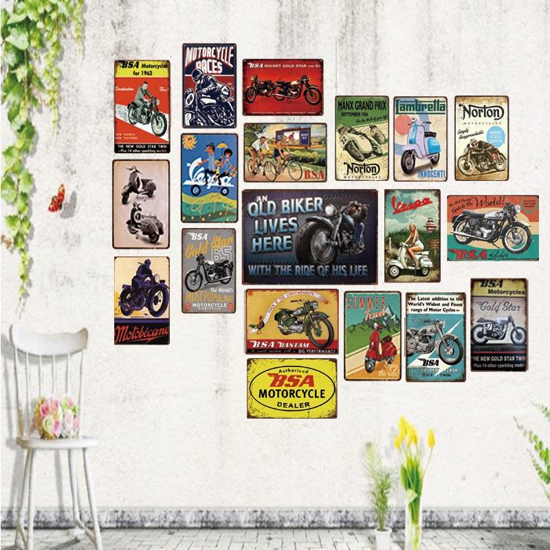MOTORNICI Vintage metalni znakovi garaža zidni bar za umjetnost obrt dekor Cuadros mješavina narudžba 30X20CM XR-1090