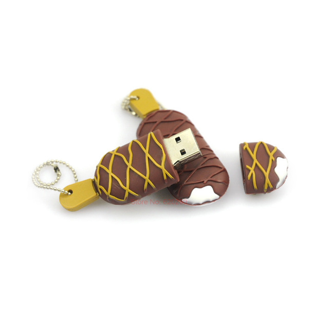 USB fashion funny chocolate ice cream flash Pen drive