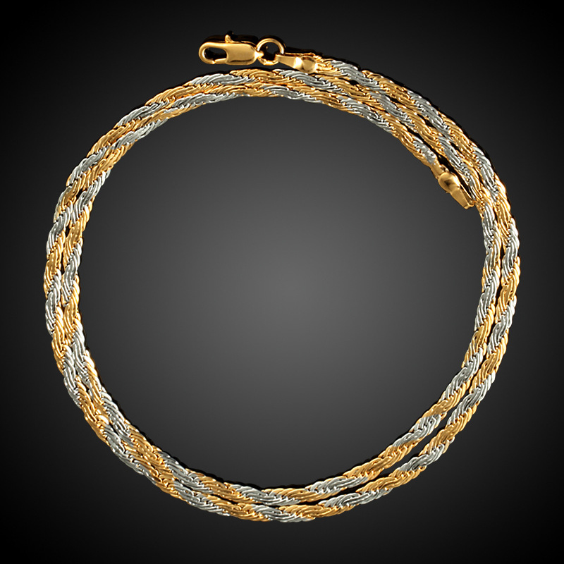 yellow and white mixed gold color twisted oblate rope