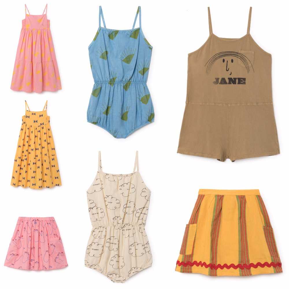 2018 spring summer baby girl cothes girls bobo choses dresses kids clothes vestidos vetement enfant garcon fille bacelona kids 2018 new style spring kids baby girl clothes 2pcs casual girl outfits sets denim jackets sleeveless dress vetement fille 13 14
