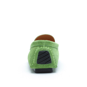 Image 3 - AGSan Summer Men Loafers Genuine Leather Casual Shoes Fashion Slip On Driving Shoes Breathable Moccasins Green Suede Loafers