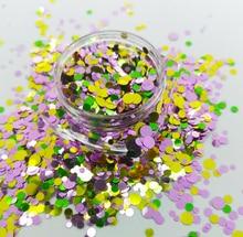 Mixed Dots Chunky Glitter Pots Nail Face Eye Shadow Powder Tattoo Festival Body Art Decoration Flake