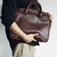 LANSPACE мужской портфель из натуральной кожи высокого качества