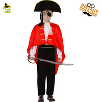 New Design Boy Pirate Costumes Halloween Maquerade Party Domineering Buccaneer Role Play Fancy Clothing For Kids