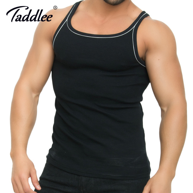 2f125b3a49b0c Taddlee Brand Men Tank Top Modal Stretch Soft Black Golds Shirts Sleeveless  Bodybuilding Stringer Fitness Singlet GASP Muscle