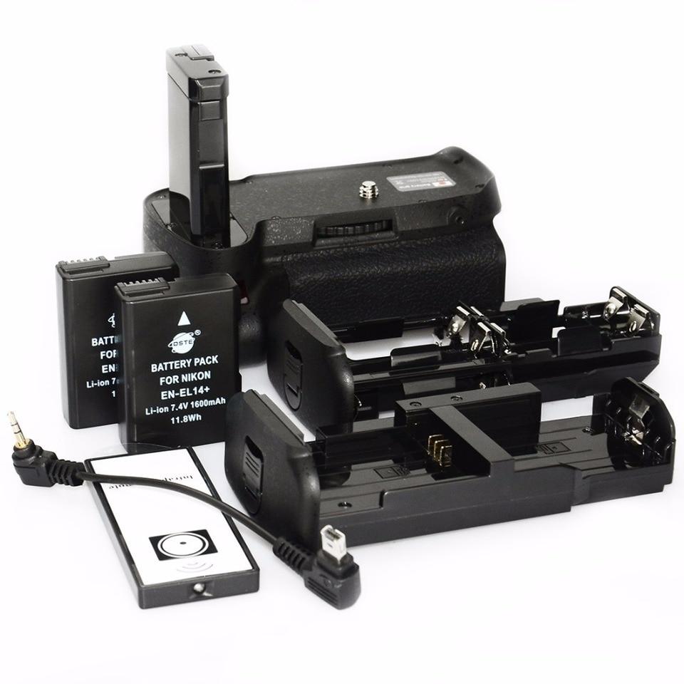 Noblik Vertical Battery Grip Holder for D5300 D3300 D3200 D3100 DSLR Camera En-El 14 Battery Powered with Ir Remote Control