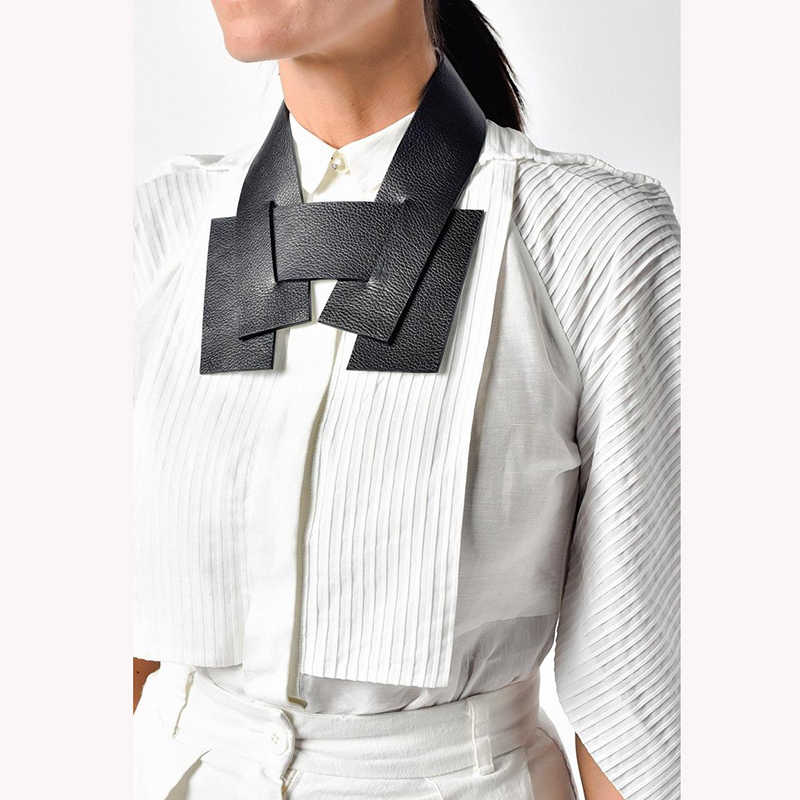 D & D mode géométrique fait à la main colliers femmes couples col noir en cuir colliers Harajuku gothique bijoux choses étranges