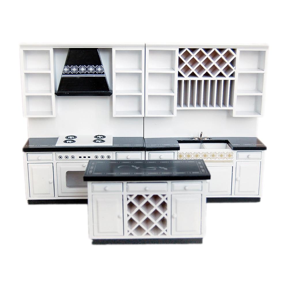 1//12 Dollhouse Miniature Furniture Kitchen Dining Cabinet Display Shelf qwe