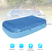 Rectangle Swimming Pool Cover Dustproof Rainproof Thickened Poncho Cover Cloth for Inflatable Pool (120.07 X 72.04 X 22.04in) цена в Москве и Питере