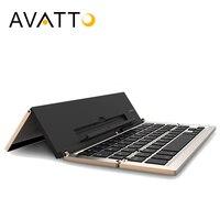 [AVATTO] Más Reciente de Aluminio A19 Plegable mini Teclado Touchpad Teclado Plegable Sin Hilos de Bluetooth Para IOS/Samsung Teléfono Ipad Tablet