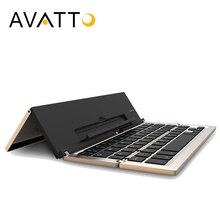 [AVATTO] Newest Aluminum A19 Bluetooth Folding mini Keyboard Wireless Foldable Touchpad Keypad For IOS/Samsung Phone Ipad Tablet