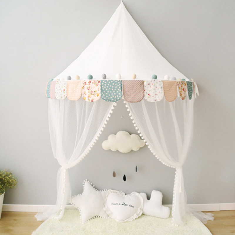 Cotton Baby Canopy Beds Kids Tents Playhouses Toddler Bed Tent with Mosquito Net Tipi Enfant Play