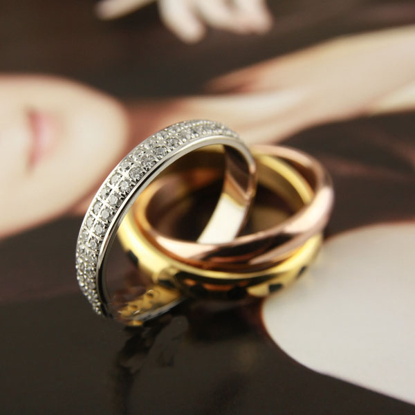 High quality Titanium Steel Love Rings for Women Men three mix color Leopard full stones wedding ring Pulseira feminina jewelry цена 2017