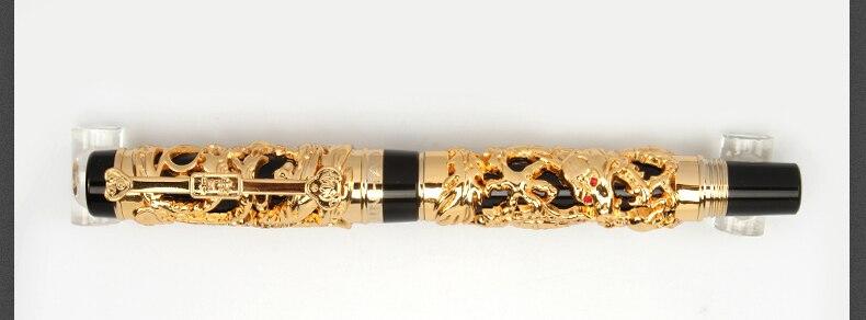 médio nib luxo metal canetas de tinta