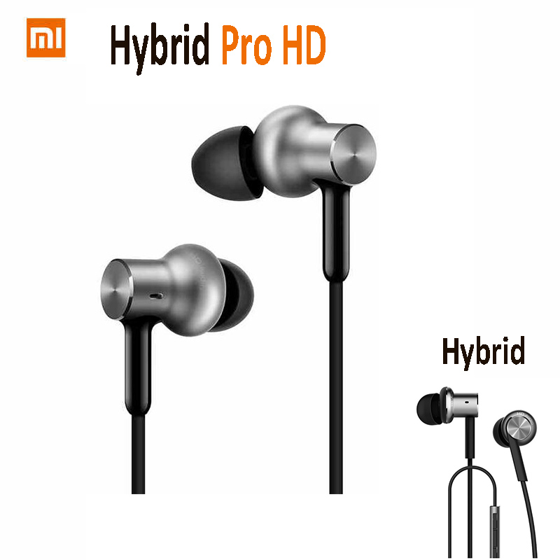 Original Xiaomi Hybrid Earphone 1More Mi Headphones Headset 2 Unit In Ear Circle Iron Mixed Piston 4 for Iphone Samsung LG HTC original xiaomi mi hybrid earphones mi in ear headphones pro piston headphone mic circle iron for phone music player