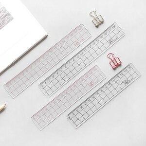 1 قطعة أسلوب بسيط 15 سنتيمتر 18 سنتيمتر 20 سنتيمتر شفافة بسيطة حاكم مربع حاكم لطيف القرطاسية إمدادات الرسم